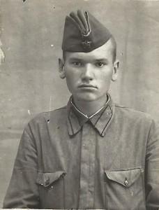 Сержант Г.Б. Прохоров. Фотография. 1940-е гг.
